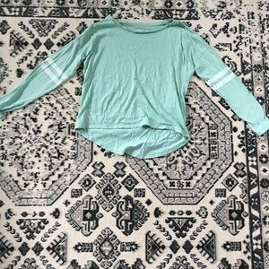 Girls mint blue long sleeve t